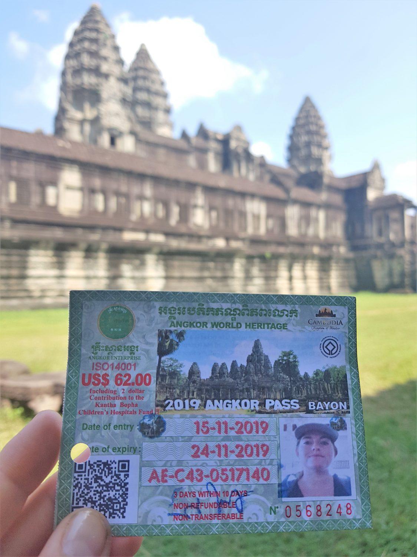 angkor park pass cambodja
