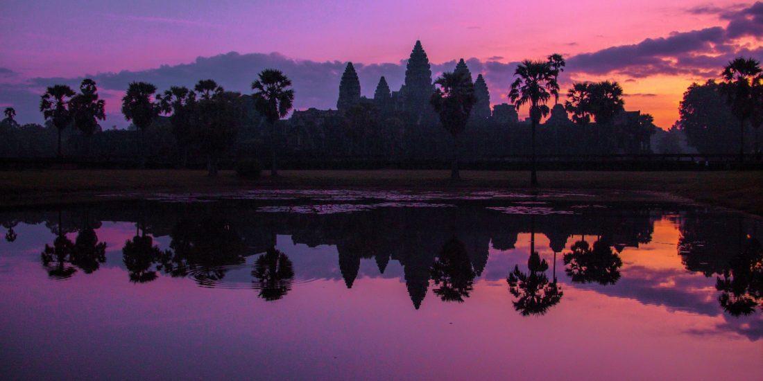 zonsopkomst angkor wat cambodja
