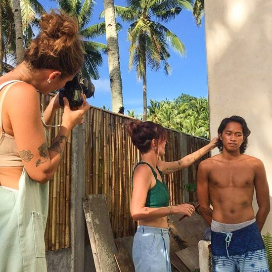 the nomad hairdresser Siargao